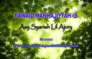 Fawaid Manhajiyah3b