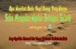 Mengaku Salafy1