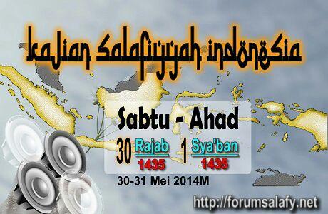 AUDIO Kajian Sabtu-Ahad 1-3 Sya'ban 1435H