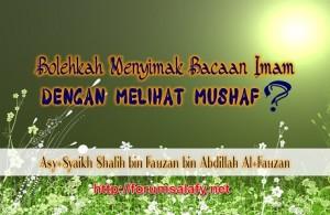 Melihat Mushaf Dalam Shalat1