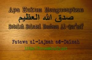 shadaqallahul azhim