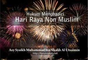 hukum menghadiri perayaan non muslim
