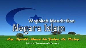 Wajibkah Mendirikan Negara Islam
