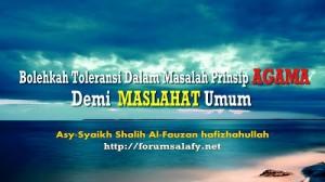Toleransi Dalam Prinsip Agama