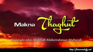 Makna Thaghut