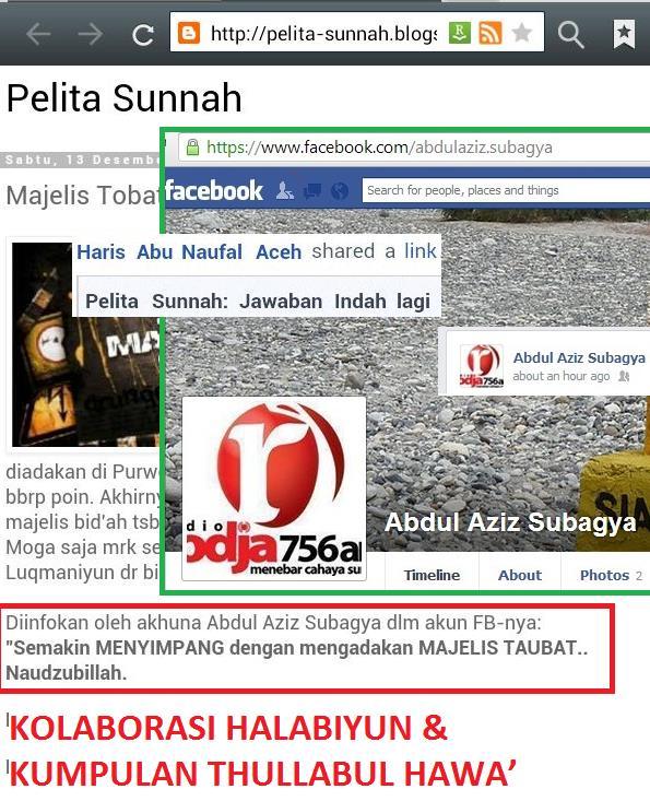 5-Pelita Sunnah berkolaborasi bersama Halabiyun Rodja untuk menebar tuduhan dusta dan fitnah. Nampak Haris Aceh menjadi propaganda situs ini