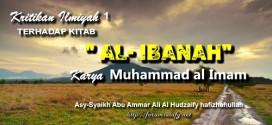 Kritikan Ilmiyah Terhadap Kitab Al-Ibanah Karya Muhammad Al Imam ~ Bagian 1