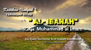 Kritikan Ilmiyah Terhadap Kitab Al Ibanah Karya Muhammad al Imam