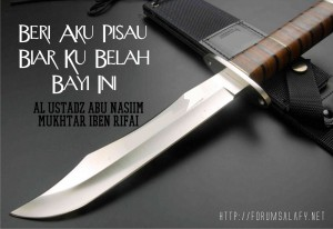 beri aku pisau